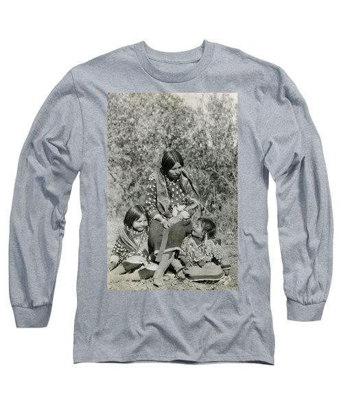 Long Sleeve T-Shirt featuring the photograph Indian Mother With Daughters by Charles Beeler