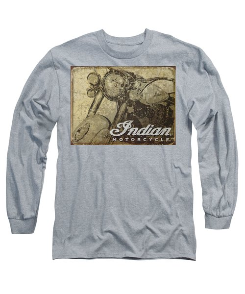 Indian Motorcycle Poster Long Sleeve T-Shirt