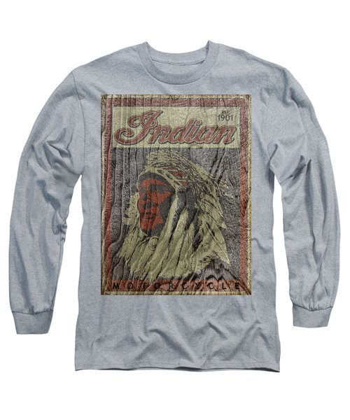 Indian Motorcycle Postertextured Long Sleeve T-Shirt
