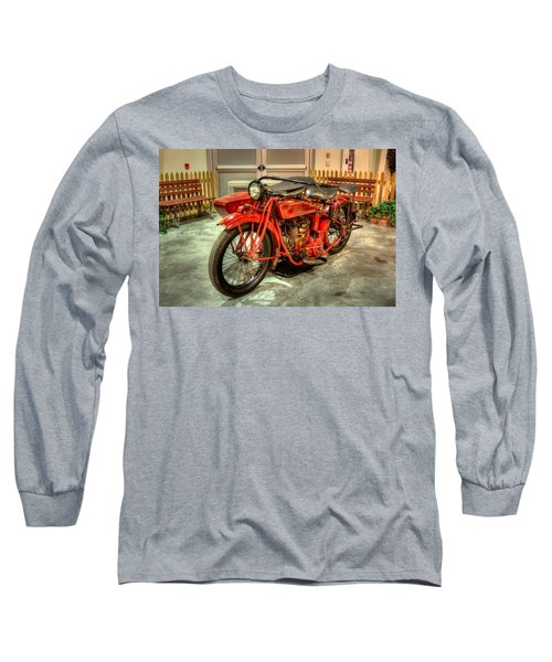 Indian Motorcycle With Sidecar Long Sleeve T-Shirt