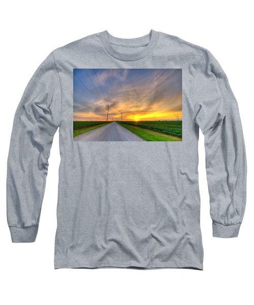 Indiana Sunset Long Sleeve T-Shirt