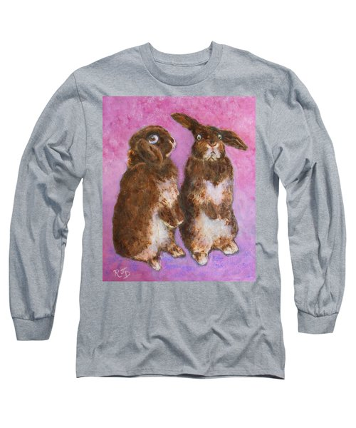 Indignant Bunny And Friend Long Sleeve T-Shirt