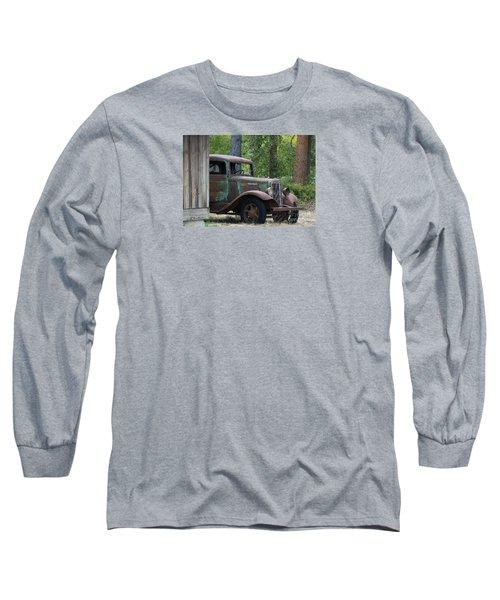 International At Cle Elum Long Sleeve T-Shirt by Jean OKeeffe Macro Abundance Art