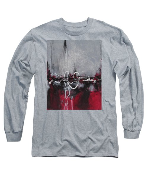 Long Sleeve T-Shirt featuring the painting Into The Fire by Nicole Nadeau