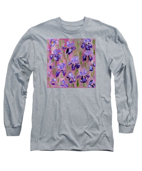 Iris Pattern Long Sleeve T-Shirt