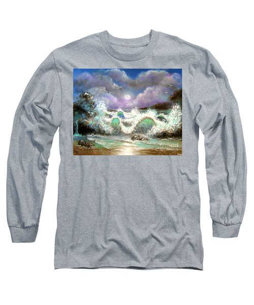 Long Sleeve T-Shirt featuring the painting Irresistible Force  by Patrice Torrillo