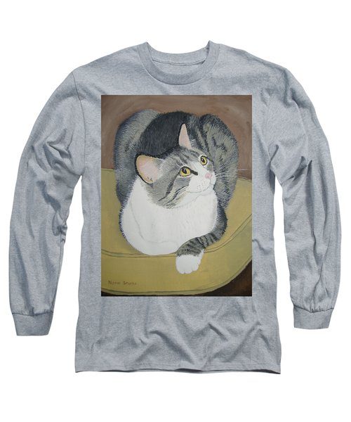 Long Sleeve T-Shirt featuring the painting Is Dinner Ready by Norm Starks
