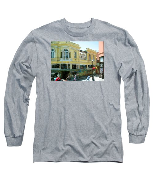 Long Sleeve T-Shirt featuring the photograph Italian Town In San Francisco by Connie Fox