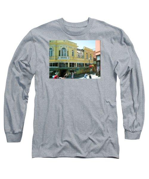Italian Town In San Francisco Long Sleeve T-Shirt by Connie Fox