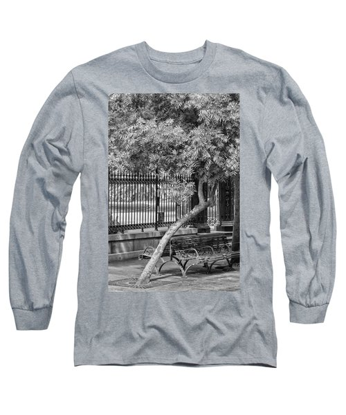 Jackson Square Bench And Tree Long Sleeve T-Shirt