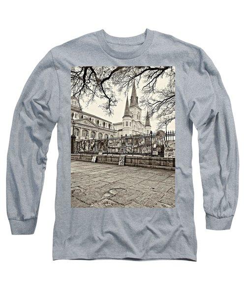 Jackson Square Winter Sepia Long Sleeve T-Shirt