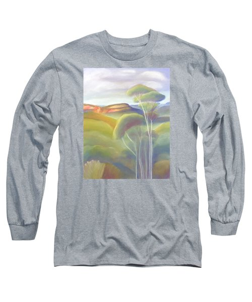 Jamison Valley Blue Mountains National Park Nsw Australia Long Sleeve T-Shirt