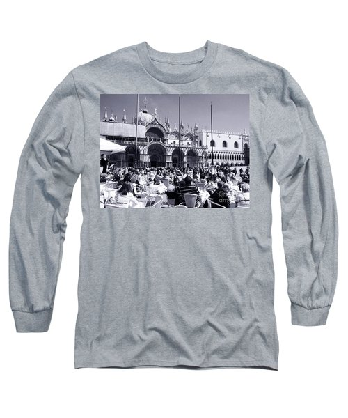 Jazz In Piazza San Marco Black And White  Long Sleeve T-Shirt