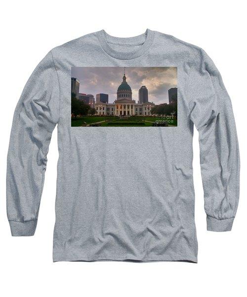 Jefferson Memorial Bldg Long Sleeve T-Shirt by Chris Tarpening