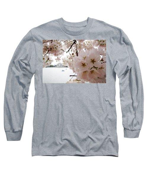 Long Sleeve T-Shirt featuring the photograph Jefferson Memorial by Jennifer Wheatley Wolf