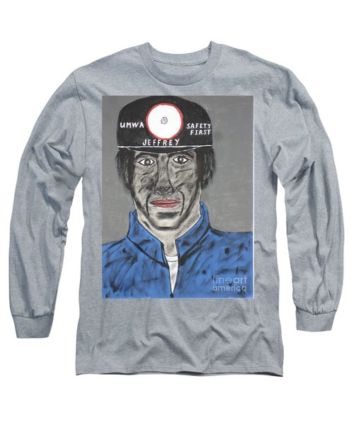 Long Sleeve T-Shirt featuring the painting Jeffrey The Coal Miner by Jeffrey Koss