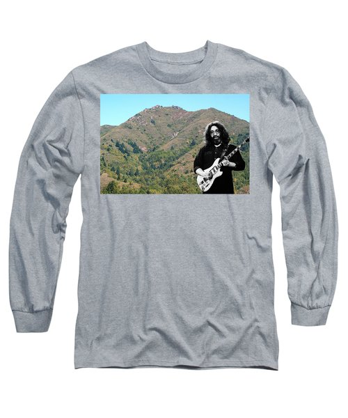 Jerry Garcia And Mount Tamalpais Long Sleeve T-Shirt