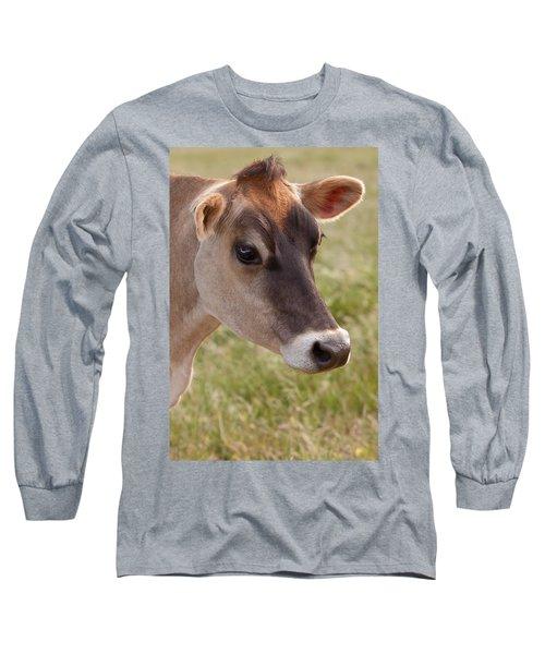 Jersey Cow Portrait Long Sleeve T-Shirt