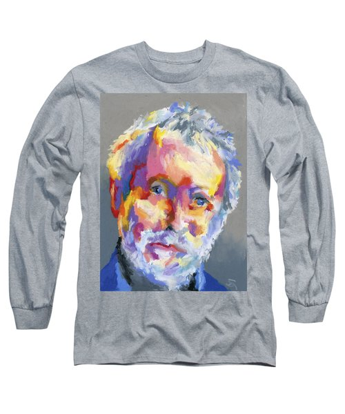 Long Sleeve T-Shirt featuring the painting Jesse Winchester by Stephen Anderson