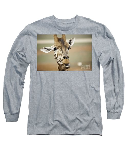 Jolly Giraffe Long Sleeve T-Shirt by Ray Warren