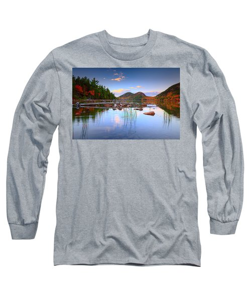 Jordan Pond In Fall Long Sleeve T-Shirt