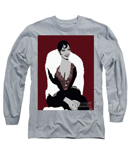 Josephine Baker A Class Act Circa 1920 Long Sleeve T-Shirt by Saundra Myles