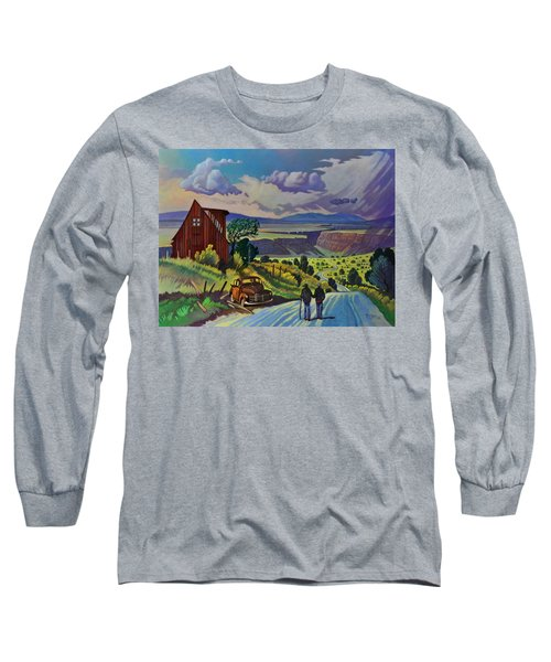 Journey Along The Road To Infinity Long Sleeve T-Shirt by Art James West