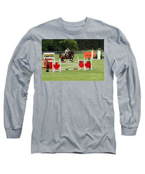 Jumping Canadian Fence Long Sleeve T-Shirt