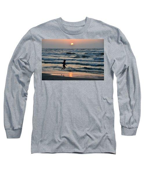Jumping For Joy Long Sleeve T-Shirt by Debra Martz