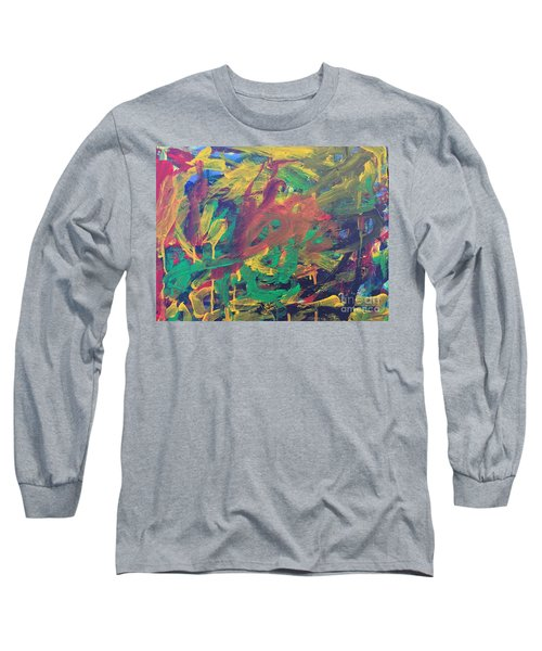 Long Sleeve T-Shirt featuring the painting Jungle by Donald J Ryker III