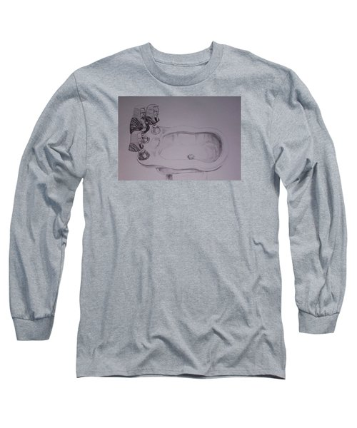 Long Sleeve T-Shirt featuring the drawing Jurisbidencia by Lazaro Hurtado