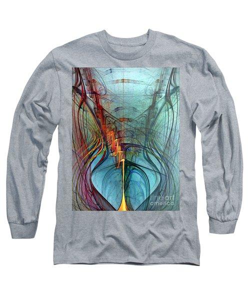 Just A Melody-abstract Art Long Sleeve T-Shirt