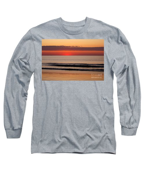 Long Sleeve T-Shirt featuring the photograph Just Showing Up Along Hampton Beach by Eunice Miller
