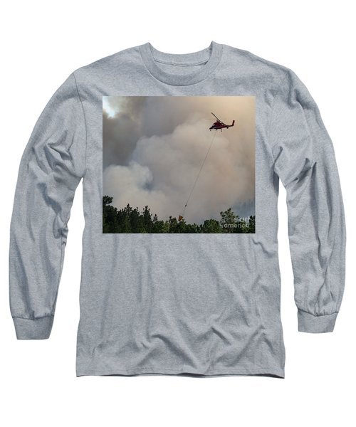 K-max Helicopter On Myrtle Fire Long Sleeve T-Shirt