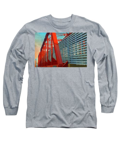 Kansas City Train Bridge - Pencoyd Railroad Bridge  Long Sleeve T-Shirt