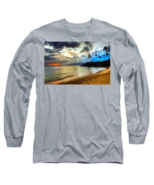 Kapalua Bay Sunset Long Sleeve T-Shirt by Kelly Wade