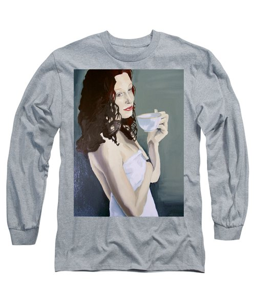 Katie - Morning Cup Of Tea Long Sleeve T-Shirt