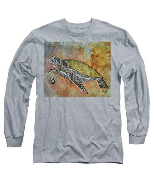 Long Sleeve T-Shirt featuring the painting Kauila Guardian Of Children by Suzette Kallen