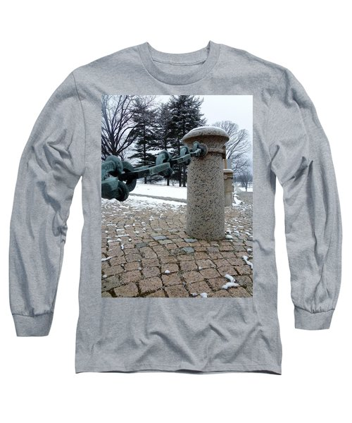 Long Sleeve T-Shirt featuring the photograph Keep Out by Michael Porchik