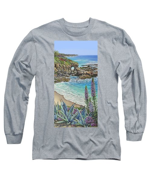 Keyhole Rock Laguna Long Sleeve T-Shirt by Jane Girardot