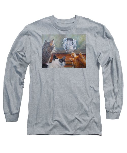 Long Sleeve T-Shirt featuring the painting Kiss My Assssssss by Donna Tucker