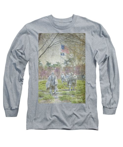 Korean War Veterans Memorial Washington Dc Beautiful Unique   Long Sleeve T-Shirt