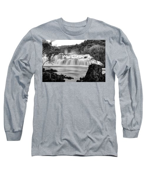 Krka Waterfalls Bw Long Sleeve T-Shirt