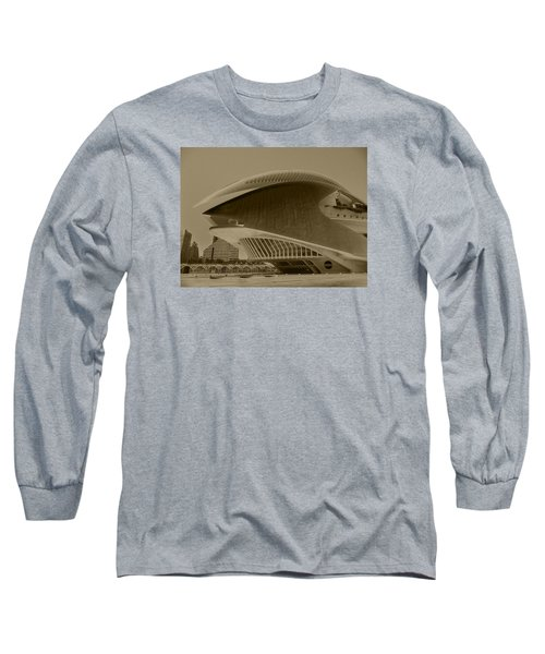 Long Sleeve T-Shirt featuring the photograph L' Hemisferic - Valencia by Juergen Weiss