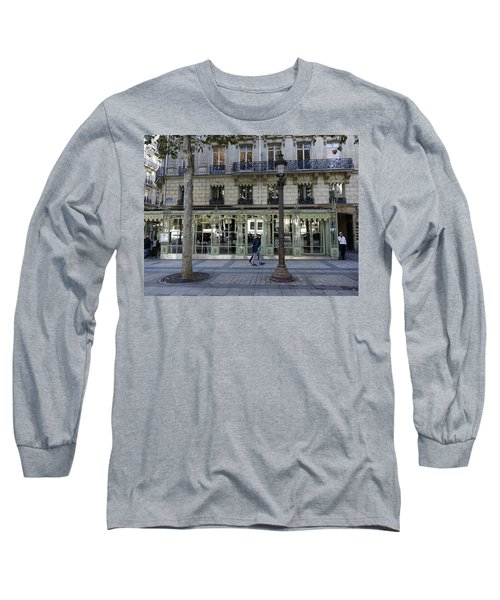 Laduree On The Champs De Elysees In Paris France  Long Sleeve T-Shirt