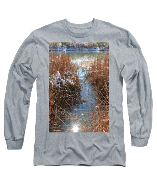 Long Sleeve T-Shirt featuring the photograph Lake Glitter by Diane Alexander