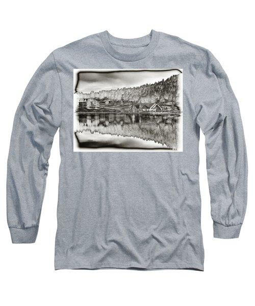 Lake House Reflection Long Sleeve T-Shirt
