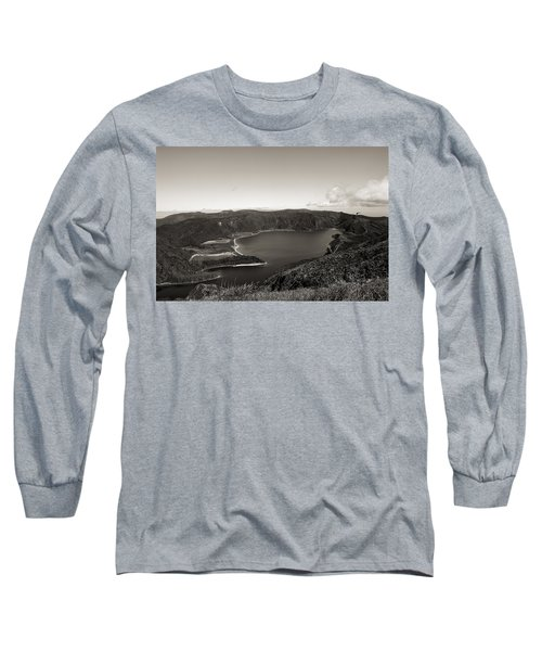Lake In A Crater Long Sleeve T-Shirt