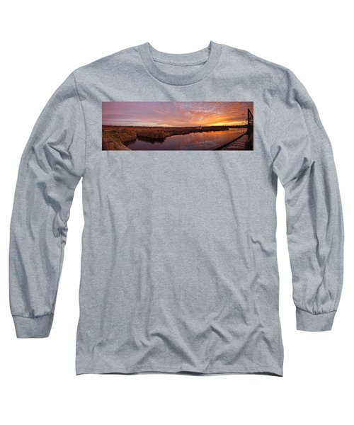 Long Sleeve T-Shirt featuring the digital art Lake Shelby Bridge by Michael Thomas