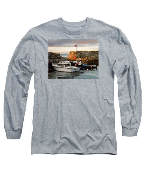 Lanes Cove Fishing Boats Long Sleeve T-Shirt